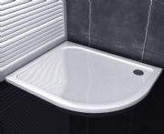 Premium Low Profile Gloss White Stone Resin Offeset Quadrant Shower Tray
